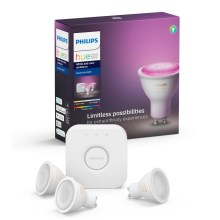 Basissæt Philips HUE WHITE AND COLOR AMBIANCE 3xGU10/5,7W/230V 2000-6500K