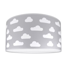 Loftslampe for børn CLOUDS GREY 2xE27/60W/230V grå