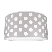 Loftslampe for børn DOTS GREY 2xE27/60W/230V grå