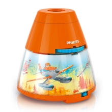 Philips 71769/53/16 - LED Projektor for børn DISNEY PLANES LED/0,1W/3xAA