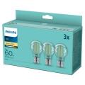SÆT 3x LED-pærer VINTAGE Philips A60 E27/7W/230V 2.700K